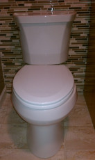 new toilet install