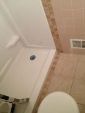 New Shower & Tile Floor