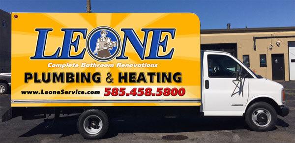 Leone Plumbing & Heating Truck