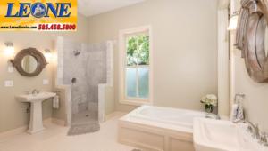 Choosing shower tile. Bathroom renovation by Leone Plumbing