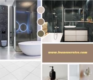 Small bathroom remodel service by Leone.