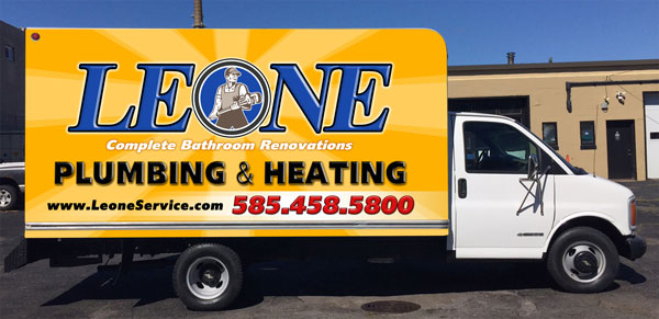 Leone Plumbing and heating truck